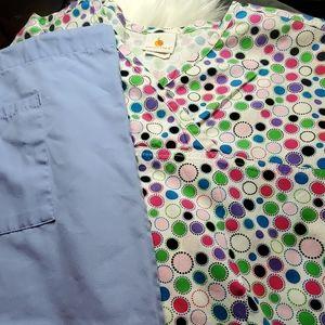 Colorful Scrub Uniform Set